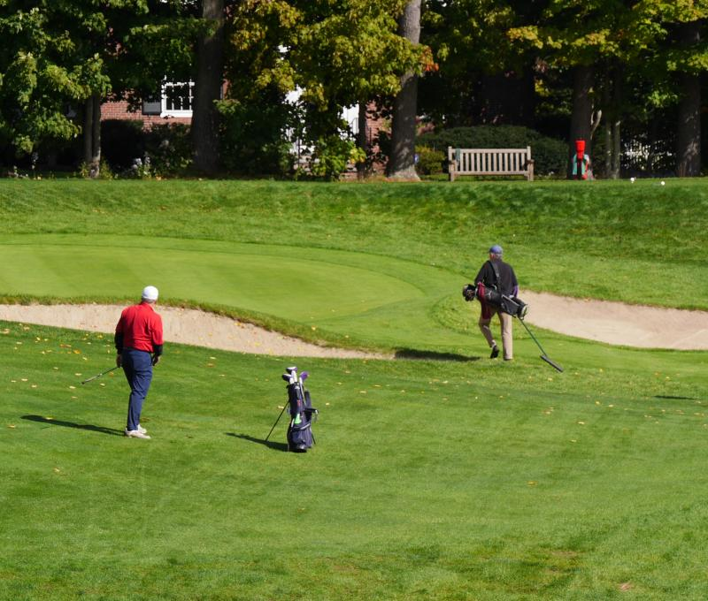 New members playing golf at Nehoiden