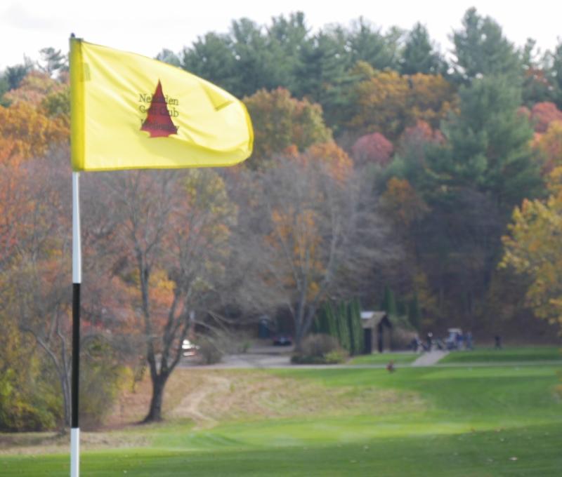 Hole one Flag looking back toward tee box.